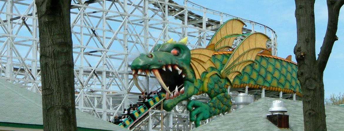 Rye Playland Dragon Coaster