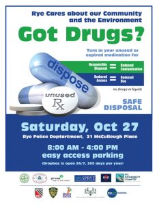 Drug Take Back Day Flyer with Details